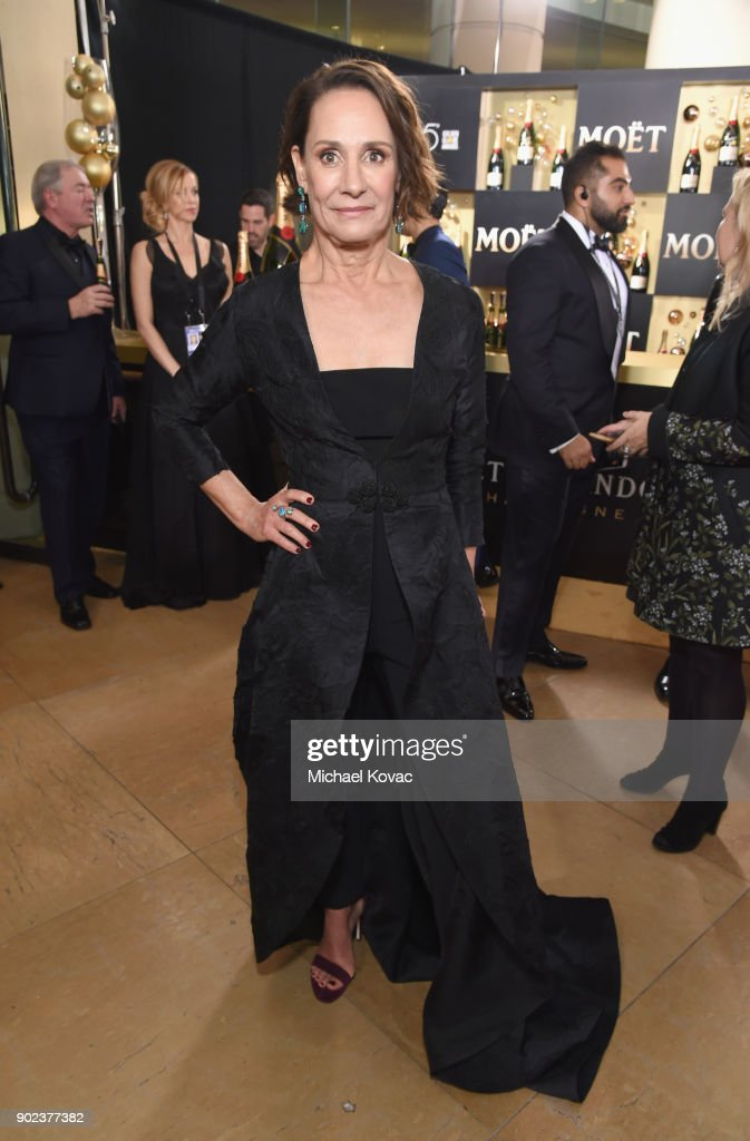 Actor Laurie Metcalf celebrates The 75th Annual Golden Globe Awards with Moet & Chandon at The Beverly Hilton Hotel on January 7, 2018 in Beverly Hills, California.