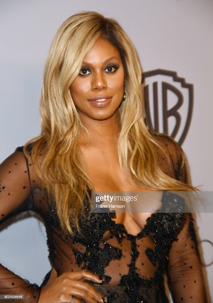 Actor Laverne Cox attends 19th Annual Post-Golden Globes Party hosted by Warner Bros. Pictures and InStyle at The Beverly Hilton Hotel on January 7, 2018 in Beverly Hills, California.