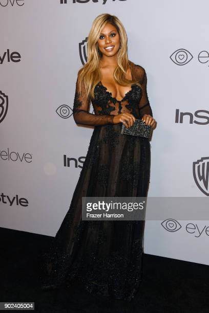 Actor Laverne Cox attends 19th Annual PostGolden Globes Party hosted by Warner Bros Pictures and InStyle at The Beverly Hilton Hotel on January 7...