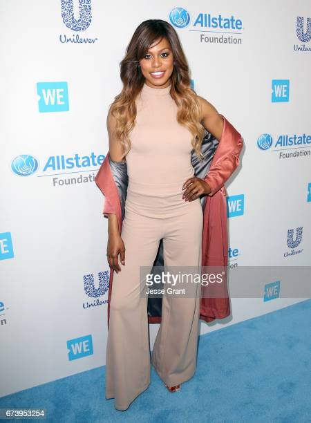 Actor Laverne Cox attends WE Day California to celebrate young people changing the world at The Forum on April 27 2017 in Inglewood California