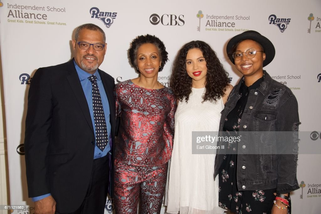 Actor Lawrence Fishburne, attorney Nina L. Shaw, actress Jurnee Smollett-Bell and Misha Green attend the Independent School Alliance Impact Awards at the Beverly Wilshire Four Seasons Hotel on April 20, 2017 in Beverly Hills, California.