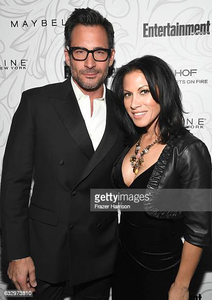 Actor Lawrence Zarian and Jennifer Dorogi attend the Entertainment Weekly Celebration of SAG Award Nominees sponsored by Maybelline New York at...