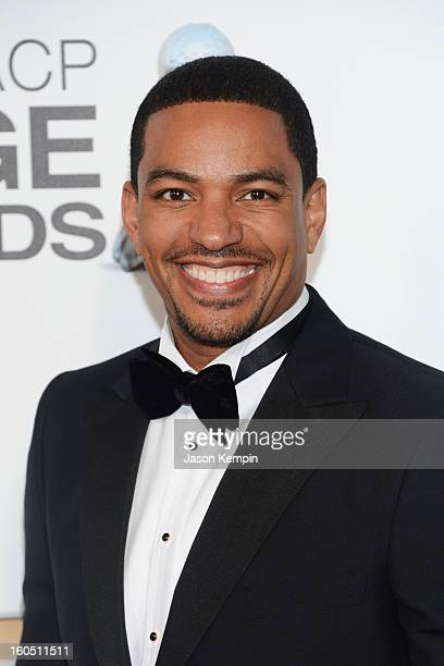 Actor Laz Alonso arrives at the 44th NAACP Image Awards held at The Shrine Auditorium on February 1 2013 in Los Angeles California