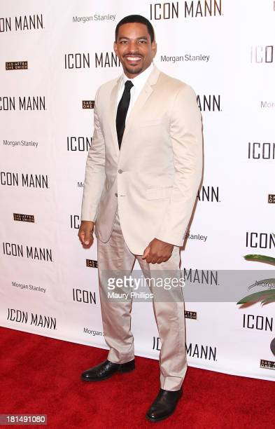 Actor Laz Alonso arrives at the ICON MANN's Black Men in Entertainment Multimedia PreEmmy Dinner on September 20 2013 in Beverly Hills California