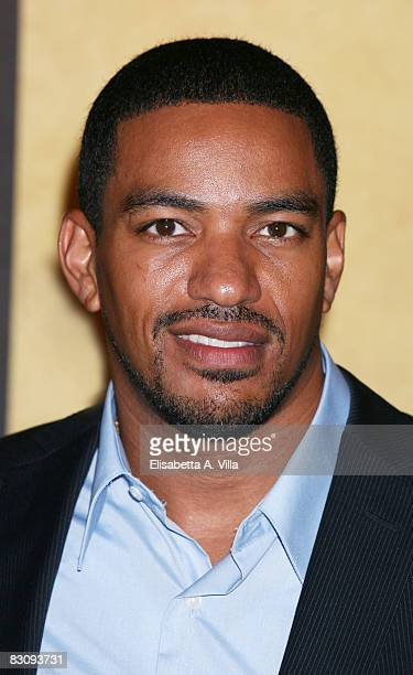 Actor Laz Alonso attends Miracle At St Anna premiere at Warner Moderno Cinema on October 2 2008 in Rome Italy