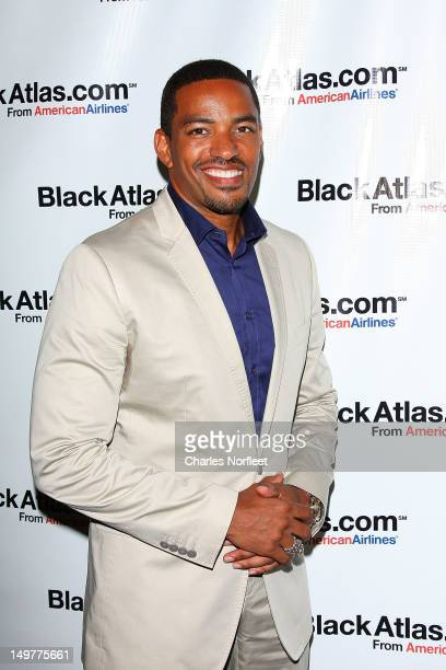 Actor Laz Alonso attends the American Airlines and Black Atlas launch party at The Studio Musuem on August 3 2012 in New York City