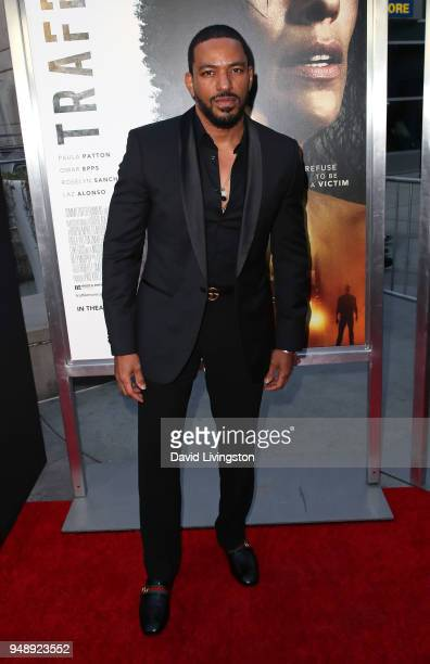 Actor Laz Alonso attends the premiere of Codeblack Films' 'Traffik' at ArcLight Hollywood on April 19 2018 in Hollywood California