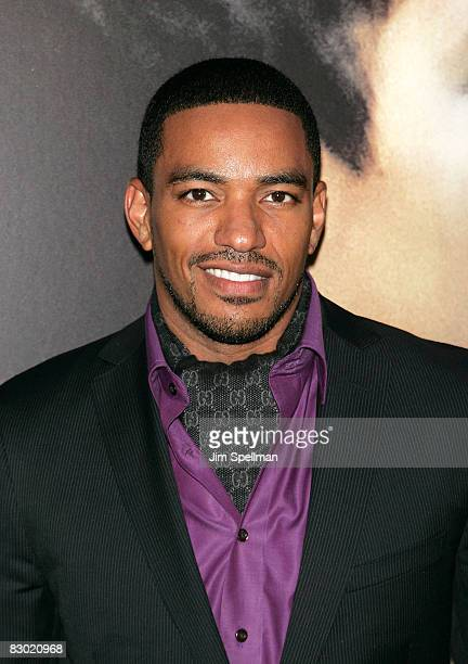 Actor Laz Alonso attends the premiere of Miracle at St Anna at Ziegfeld Theatre on September 22 2008 in New York City