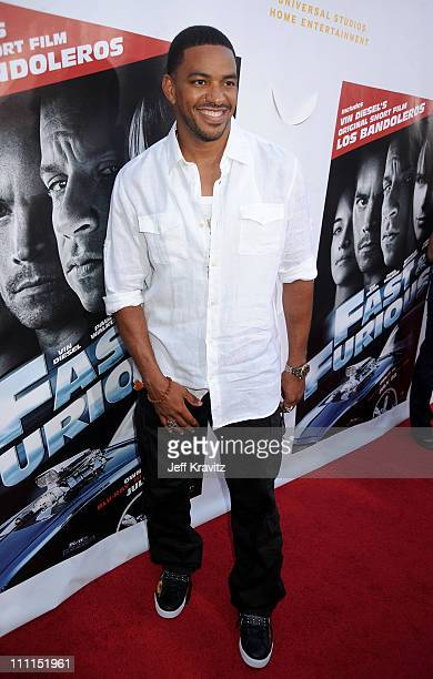 Actor Laz Alonso attends Universal Studios Home Entertainment's DVD release of Fast Furious kick off with the US Premiere of Vin Diesel's original...