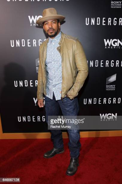 Actor Laz Alonso attends WGN America's Underground Season Two Premiere Screening at Regency Village Theatre on March 1 2017 in Westwood California