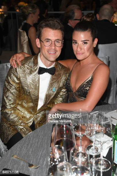Actor Lea Michele and Brad Goreski attend Bulgari at the 25th Annual Elton John AIDS Foundation's Academy Awards Viewing Party at on February 26 2017...