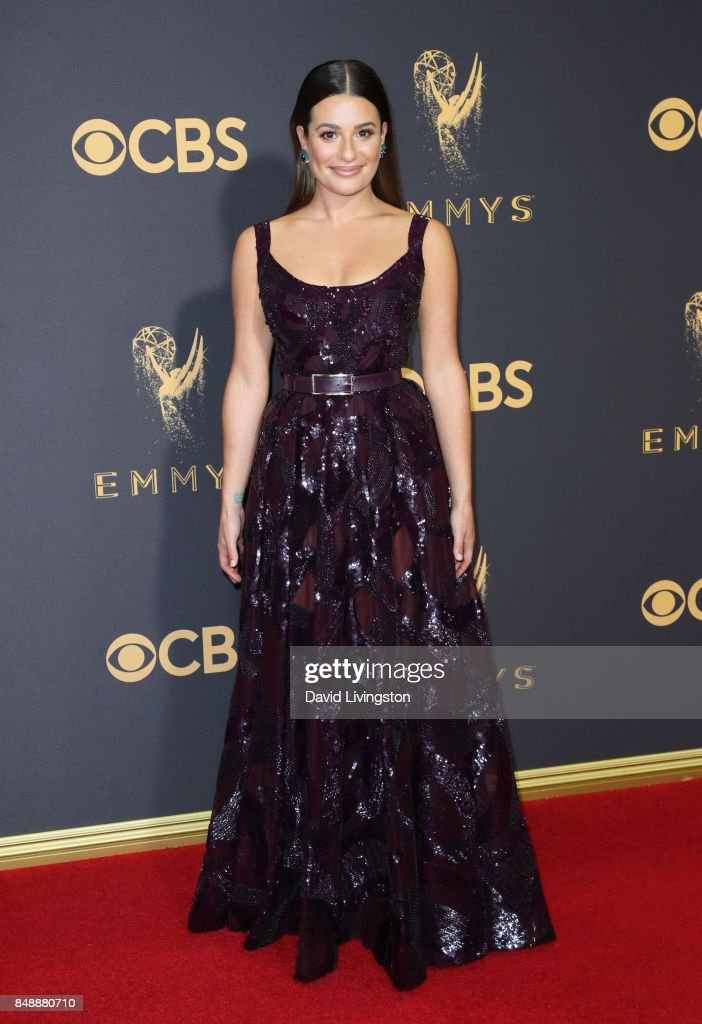 Actor Lea Michele attends the 69th Annual Primetime Emmy Awards - Arrivals at Microsoft Theater on September 17, 2017 in Los Angeles, California.