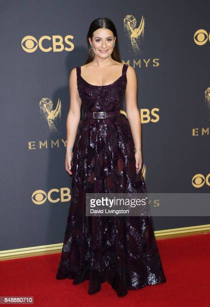Actor Lea Michele attends the 69th Annual Primetime Emmy Awards Arrivals at Microsoft Theater on September 17 2017 in Los Angeles California