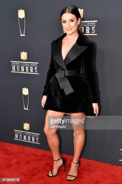 Actor Lea Michele attends the NFL Honors at University of Minnesota on February 3 2018 in Minneapolis Minnesota