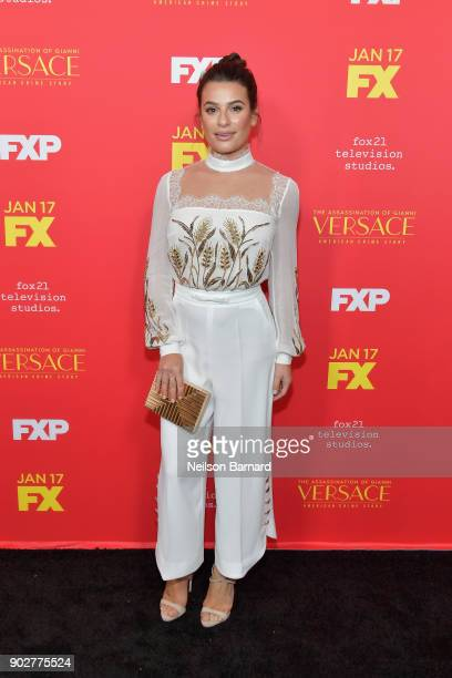 Actor Lea Michele attends the premiere of FX's 'The Assassination Of Gianni Versace American Crime Story' at ArcLight Hollywood on January 8 2018 in...