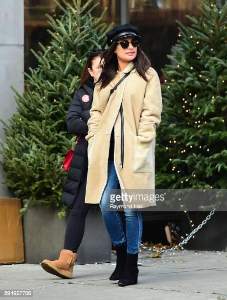 Actor Lea Michele is seen walking in Soho on December 18 2017 in New York City