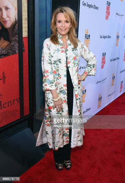 Actor Lea Thompson attends the opening night premiere of Focus Features' The Book of Henry during the 2017 Los Angeles Film Festival at Arclight...