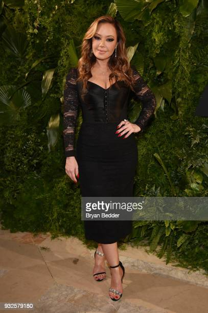 Actor Leah Remini attends the 2018 A+E Upfront on March 15, 2018 in New York City.