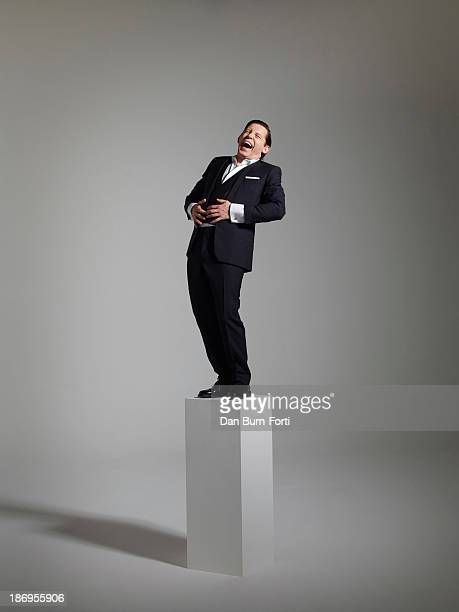 Actor Lee Evans is photographed for the Telegraph on August 20, 2013 in London, England.
