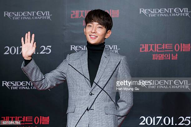 Actor Lee JunKi attends the press conference for 'Resident Evil The Final Chapter' on January 13 2017 in Seoul South Korea The film will open on...