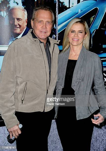 Actor Lee Majors and Faith Majors arrive at the premiere of the HBO documentary His Way at Paramount Studios on March 22 2011 in Hollywood California
