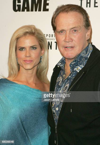 Actor Lee Majors and his wife Faith Majors attend CBS Paramount network television's The Game premiere party at The Montalban on September 27 2008 in...