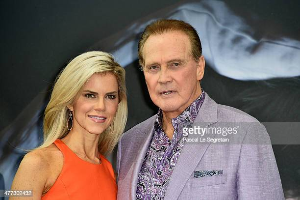 Actor Lee Majors from the TV series The Six Million Dollar Man and wife Faith Majors attend the 55th Monte Carlo TV Festival Day 4 on June 16 2015 in...