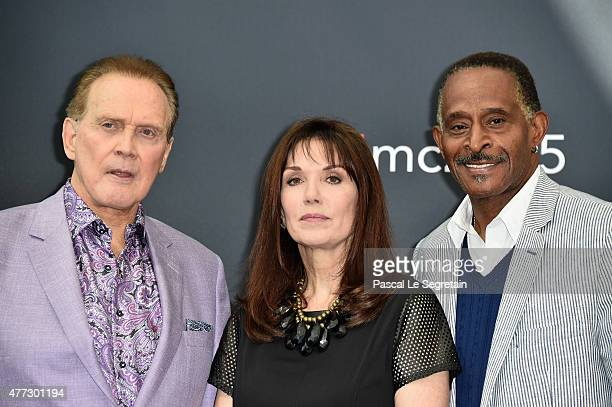 Actor Lee Majors from the TV series 'The Six Million Dollar Man' Actress Stepfanie Kramer from the TV series Hunter and Actor Antonio Fargas from the...
