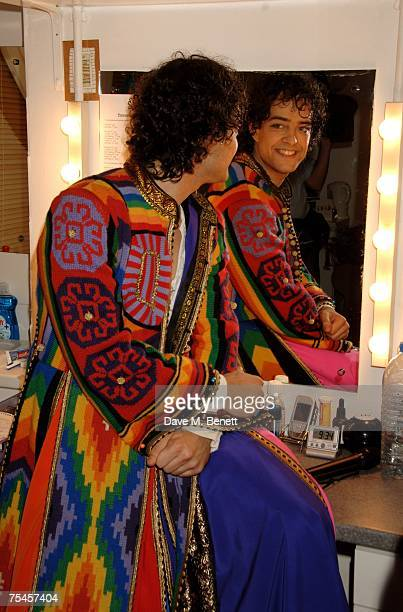 Actor Lee Mead poses backstage during the press night of 'Joseph And The Amazing Technicolor Dreamcoat', at the Adelphi Theatre on July 17, 2007 in...