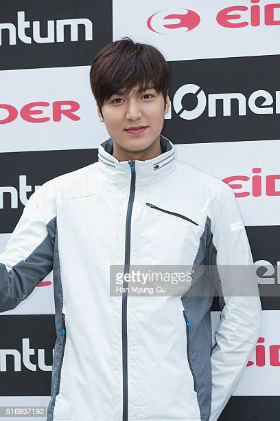 Actor Lee MinHo attends the autograph session for EIDER 'Momentum' Line at Lotte Department Store on March 18 2016 in Seoul South Korea
