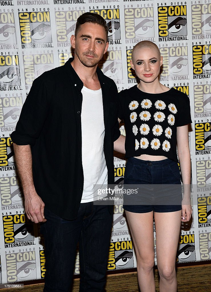 Actor Lee Pace (L) and actress Karen Gillan attend Marvel's 'Guardians of the Galaxy' press line during Comic-Con International 2013 at the Hilton San Diego Bayfront Hotel on July 20, 2013 in San Diego, California.