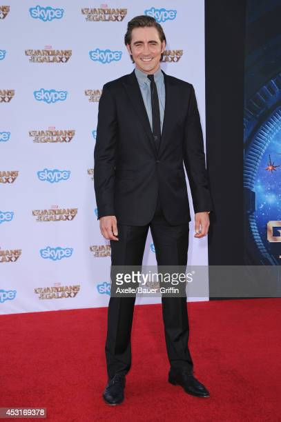 Actor Lee Pace arrives at the Los Angeles premiere of 'Guardians Of The Galaxy' at the El Capitan Theatre on July 21 2014 in Hollywood California