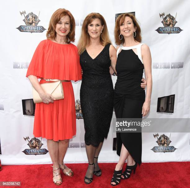 Actor Lee Purcell director/ writer/actress Judy Norton and Laura Pursell attend the premiere of Inclusion Criteria at Charlie Chaplin Theatre on...