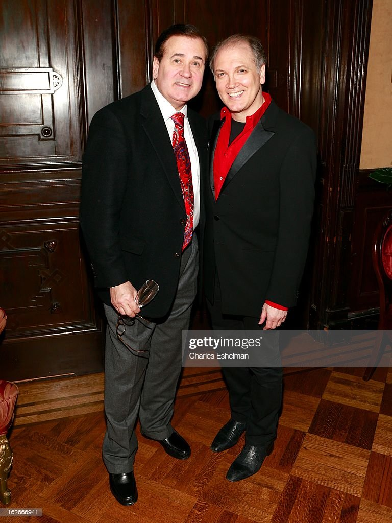Actor Lee Roy Reams and playwright/actor Charles Busch attend the 10th Annual Love 'N' Courage Benefit For TNC's Emerging Playwrights Program at The National Arts Club on February 25, 2013 in New York City.