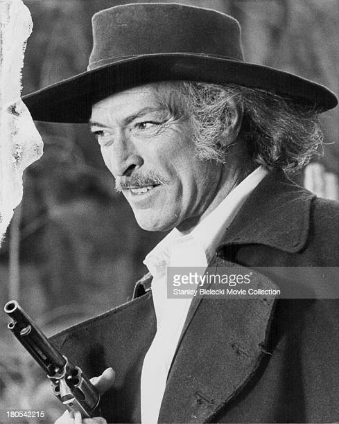 Actor Lee Van Cleef in a scene from the movie ' Take a Hard Ride', 1975.