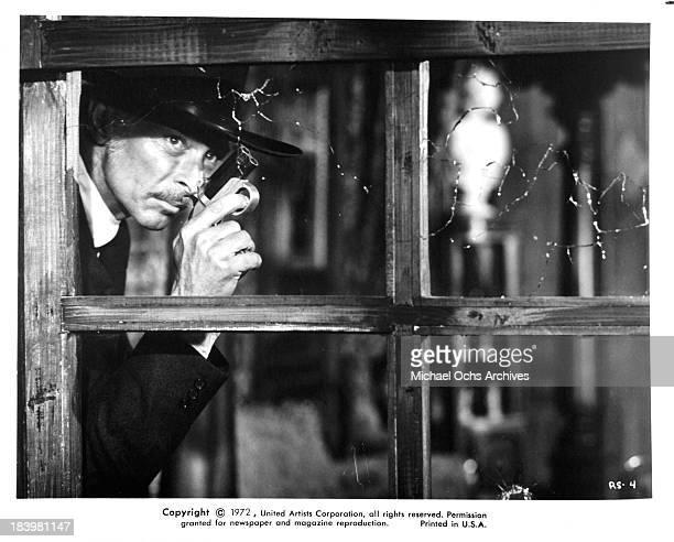 """Actor Lee Van Cleef on set of the United Artists movie """"The Return of Sabata"""" in 1971."""