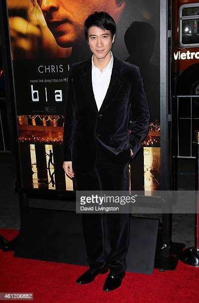 Actor Leehom Wang attends the premiere of Universal Pictures and Legendary Pictures' 'Blackhat' at the TCL Chinese Theatre IMAX on January 8 2015 in...