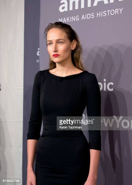 Actor Leelee Sobieski attends the 2018 amfAR Gala New York at Cipriani Wall Street on February 7 2018 in New York City