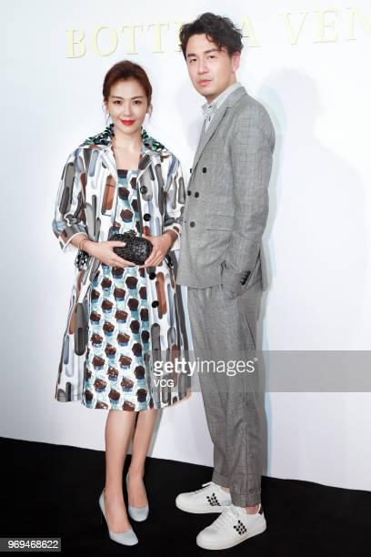 Actor Lei Jiayin and actress Tamia Liu Tao attend the Bureau Veritas event on June 7, 2018 in Shanghai, China.