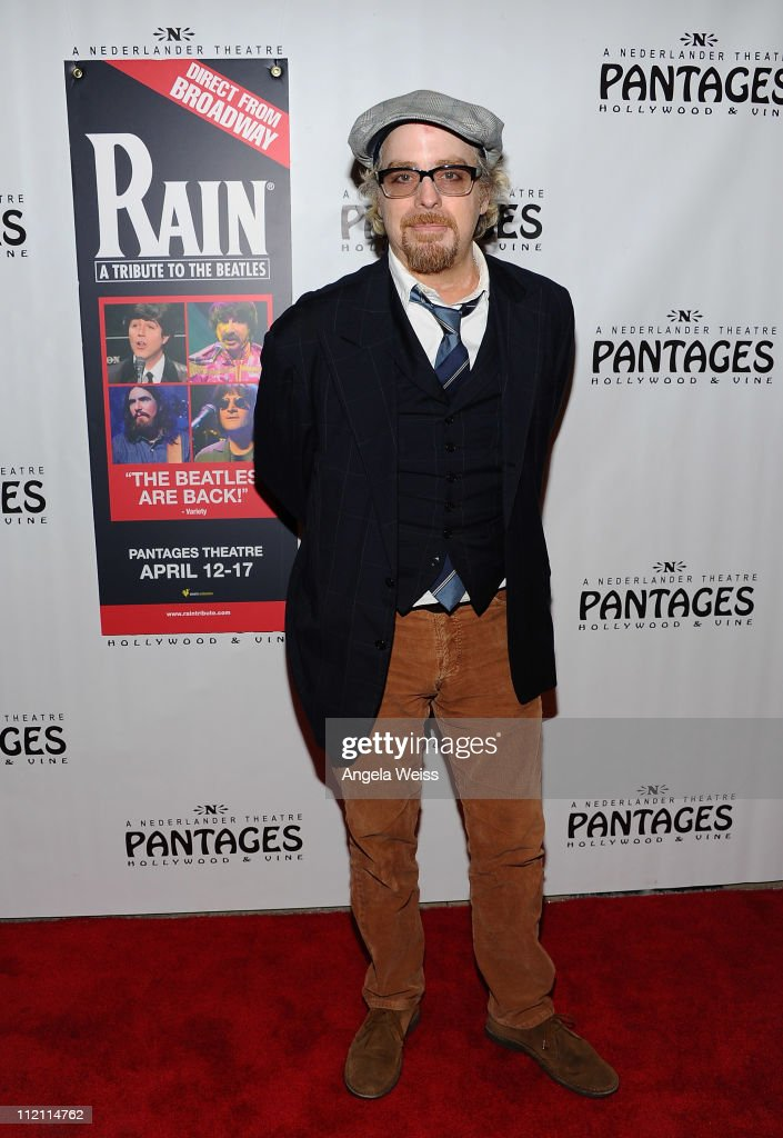 Actor Leif Garrett arrives at the opening night of 'Rain- A Tribute To The Beatles' at the Pantages Theatre on April 12, 2011 in Hollywood, California.