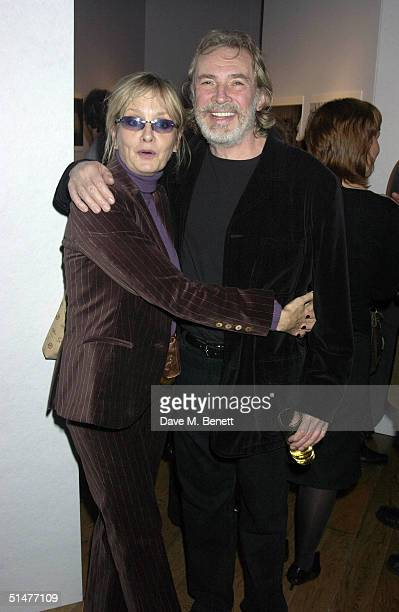 "Actor Leigh Lawson and wife Twiggy attend the private view for Mary McCartney Donald's new exhibition ""Off Pointe"" at the Royal Opera House, Covent..."