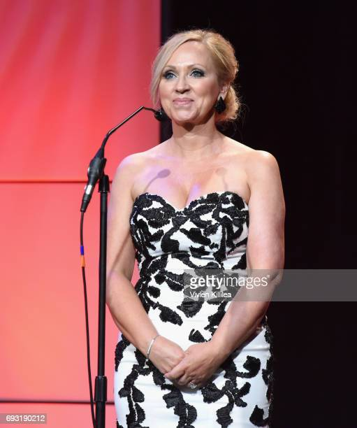 Actor LeighAllyn Baker speaks onstage during the 42nd Annual Gracie Awards at the Beverly Wilshire Hotel on June 6 2017 in Beverly Hills California