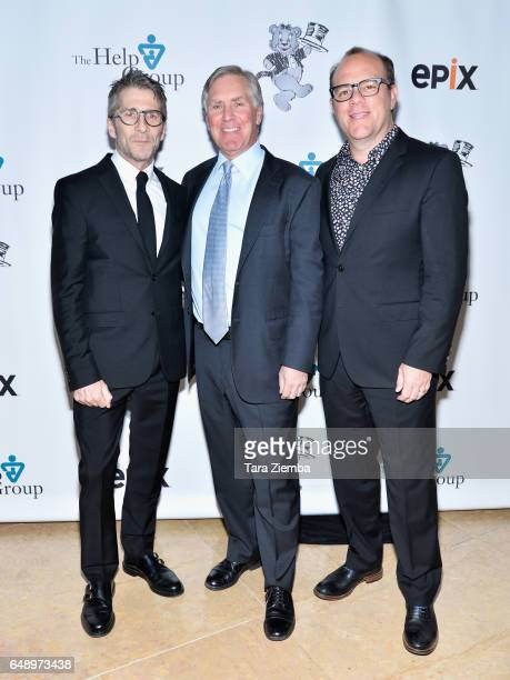 Actor Leland Orser EPIX President and CEO Mark Greenberg and comedian Tom Papa attend the 19th Annual Teddy Bear Ball at The Beverly Hilton Hotel on...