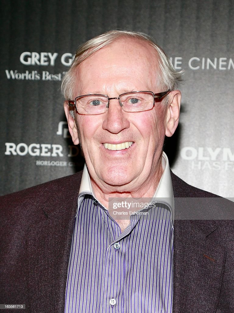 Actor Len Cariou attends The Cinema Society with Roger Dubuis and Grey Goose screening of FilmDistrict's 'Olympus Has Fallen' at the Tribeca Grand Screening Room on March 11, 2013 in New York City.
