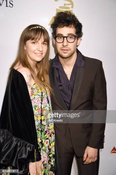 Actor Lena Dunham and musician Jack Antonoff attend the 2017 Pre-GRAMMY Gala And Salute to Industry Icons Honoring Debra Lee at The Beverly Hilton...