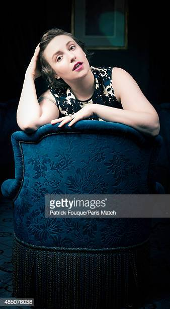 Actor Lena Dunham is photographed for Paris Match on January 17 2014 in Paris France