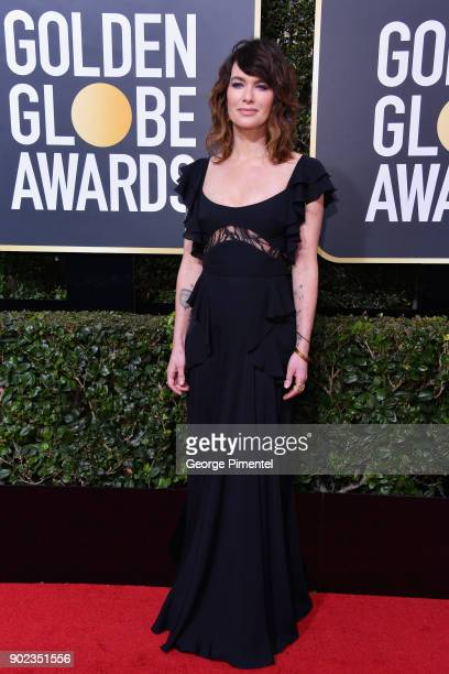 Actor Lena Headey attends The 75th Annual Golden Globe Awards at The Beverly Hilton Hotel on January 7 2018 in Beverly Hills California