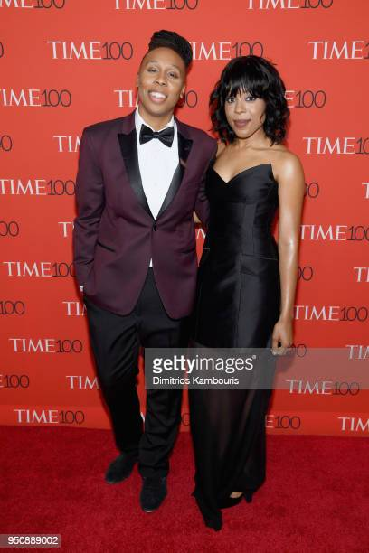 Actor Lena Waithe and Alana Mayo attend the 2018 Time 100 Gala at Jazz at Lincoln Center on April 24 2018 in New York City