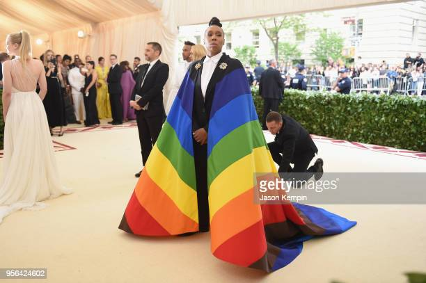 Actor Lena Waithe attends the Heavenly Bodies Fashion The Catholic Imagination Costume Institute Gala at The Metropolitan Museum of Art on May 7 2018...