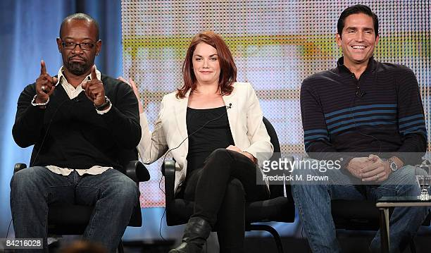 Actor Lennie James, actress Ruth Wilson and actor Jim Caviezel speak during the AMC portion of the 2009 Winter Television Critics Association Press...